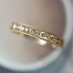 New Women's Yellow Gold Diamond Women's Ring